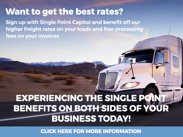 Single Point Logistics Benefits On A Semi Truck Driving Down The Highway